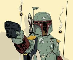 Boba Fett Colors WIP by r6artist