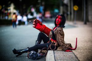 Fighting Demons is exhausting by GabbyLouCosplay