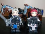 LEGO Fire Emblem Fates: Silas and Sophie+Horses by TommySkywalker11