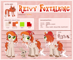 Reivy Foxtalking (Reifox) reference by DaffyDream