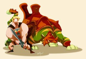 Heman and Kitty by AndyPoonDesign