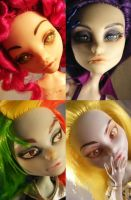 Poseable Pony Dolls by Angelfacedmuffin