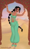 Jasmine as a belly dancer by tmpoole96