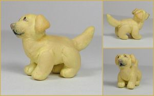 Little Labrador Sculpture by LeiliaClay