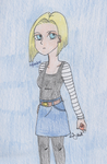 VILLAINS MONTH - Android 18 (Dragonball Z) by SwiftNinja91