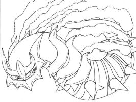 Giratina Sketch by WaniRamirez