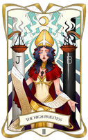 Tarot Card II - The High Priestess by RoteGruetze