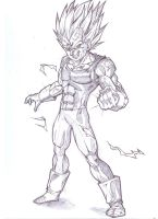 majin vegeta ssj2 by bloodsplach