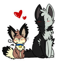 Meow and Woof by ThatWildMary