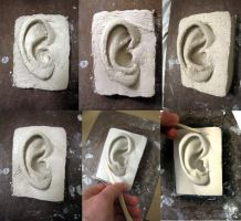 Ear Sculpture part 1 by EvanCampbell