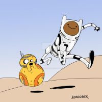 finn and J8ke by BrianKesinger