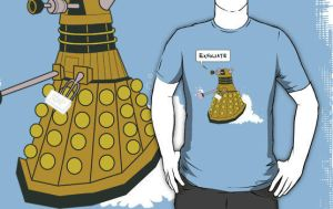 EXFOLIATE Dalek - Shirts, Posters, Stickers by GrowlyLobita