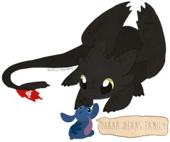 Toothless and Stitch by naida4