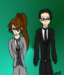 Art Trade: Two Shinigami by HinataFox790
