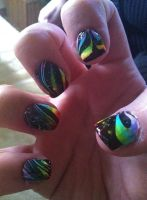 Water marble done over rainbow gradient by lettym