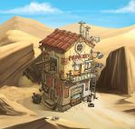 Garage-in-the-desert by Garri69