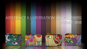 Abstract illustration of folders (volume one) by D1m22