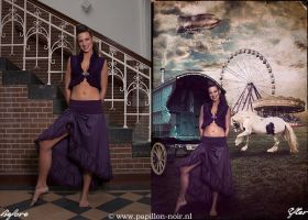 Before and After Circus Gipsy by Papillon-Noir-Art