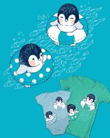 Baby Penguins Tee by ChiisanaHime