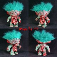 Larry The Zombie Troll ooak by Undead-Art