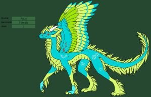 Aqua's battle dragon form by element-dragonx