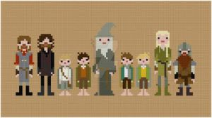 Fellowship of the Ring cross stitch pattern by avatarswish