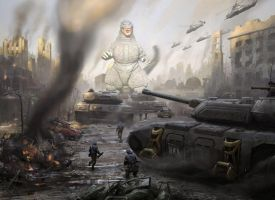 War of Gojira by WoGzilla