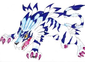 Garurumon by Chibi-Dragoness
