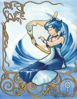 Princess Mercury Nouveau by cyanineblu