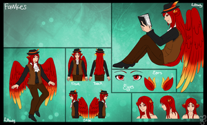 Ref sheet - Fawkes by Sushi
