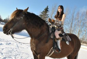 Ready for a Ride in Skyrim! by cloudstrife597