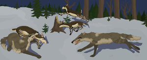 Scissorjaw Dogs on the Hunt by Sheather888