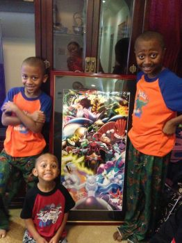 My Nephews get their Pokemon Poster(Christmas Day) by MightyGoodrum