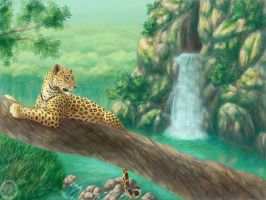 Leopardess in the jungle by Kivuli