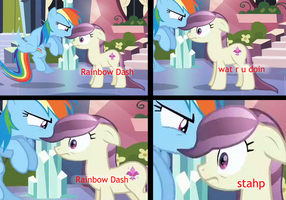 Rainbow Dash.... stahp! by Camsy34