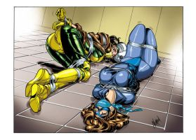 Rogue and Shadowcat by we-r-nomad