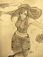 Tifa Lockhart requested by my friend Tenny by ArchieGlennDomingo