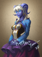 Yrel - Happy New Year- by Blackfang9