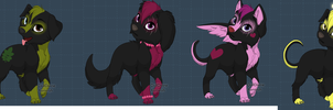 Free Adoptable! Hellhounds! CLOSED! by TheblueQueen16