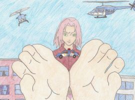 Giantess Sakura 2 by XxSumRaNdOmGuYxX