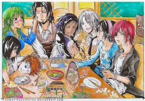 Bleach and DGM - a dinner as many by NemesiHouseburns