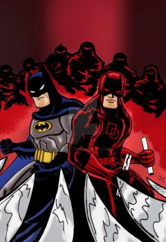 Batman daredevil adventures color by nic011