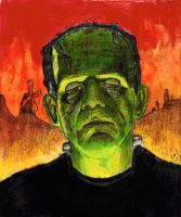 Frankenstein - Boris Karloff - Universal Monster 2 by smjblessing