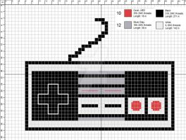 Classic Nintendo Controller Cross-Stitch Pattern by CraftingGeek