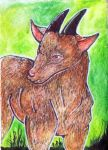 (ACEO) goat by PurpleWish23