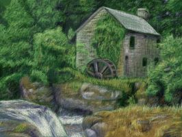 Olde Water Mill 3DS by Flowerlark