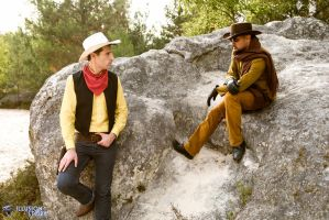 When Lucky Luke meet Django by johnnypen
