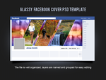 Glassy Facebook Cover PSD Template by xara24