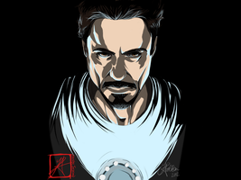 Tony Stark - Vid Included by InvisibleRainArt