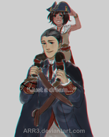 Father and son :AssasinsCreed III: by Arr3